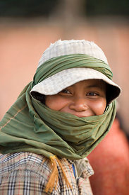 Happy young Cambodian woman
