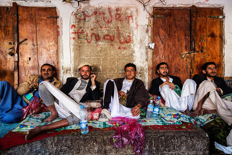 Men Chewing Qat or Khat