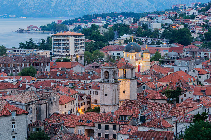 Elevated View of Stari Grad (Old Town) of Kotor