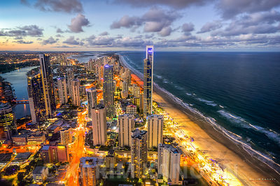 Surfers Paradise night view