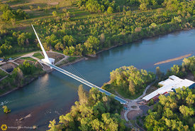 Sundial Bridge From the Air #4