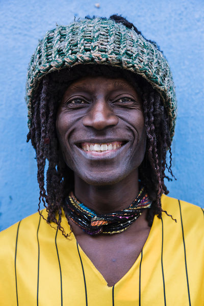 Portrait of a Man with Dreadlocks