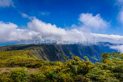 Mountains of Mafate at Reunion Island