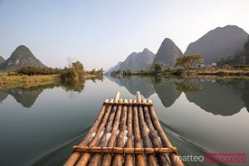 Crusing the Li river in Yangshuo, China