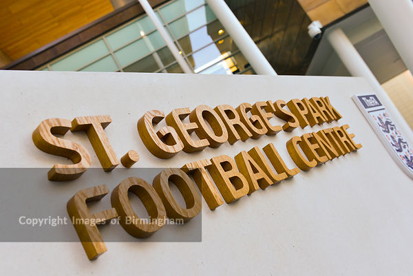 Sign at St George's Park, The FA Training Facility, Burton on Trent, Staffordshire, England