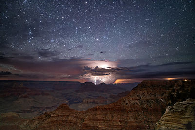 Midnight Thunderstorm Over Grand Canyon