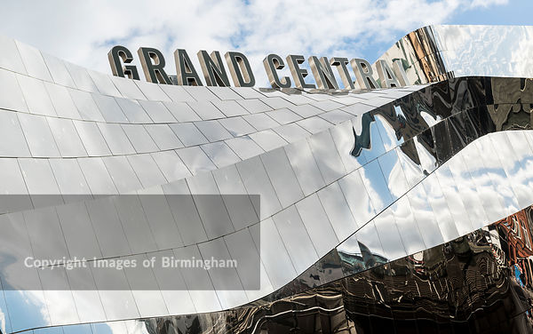 Grand Central shopping centre exterior at Birmingham New Street station, Birmingham, England