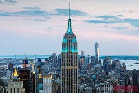 Empire State building at dusk, New York city, USA