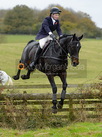 Meghan Healy jumping a fence at second horses - The Cottesmore at The Fox and Hounds