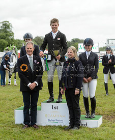 The top three on the podium - Bramham International Horse Trials, June 2017