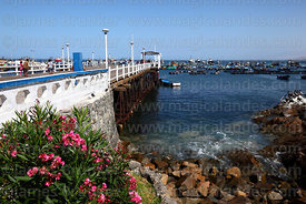 Historic pier, port in background, Ilo, Peru