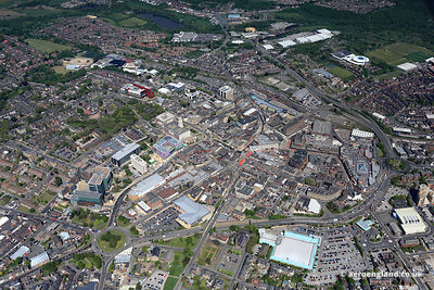 aerial photograph of Barnsley West Yorkshire England UK