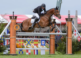 Mark Todd and LEONIDAS II - Show Jumping phase, Mitsubishi Motors Badminton Horse Trials 2014