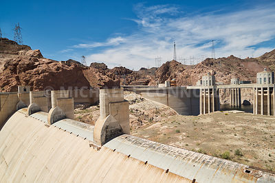 Overflow Sleuce & Intakes At Hoover Dam