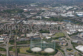 Birmingham aerial photograph of the landmark Gas Holders on Watson road and Nechells