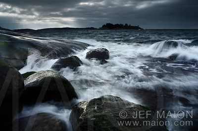 Water and rocks on the Baltic Sea