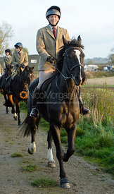 leaving the meet - The Cottesmore Hunt at the kennels 21/10