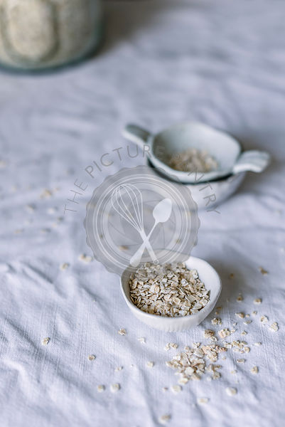Oatmeal on a kitchen table