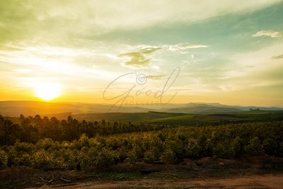 Sunset Over Valley in Mpumalanga South Africa