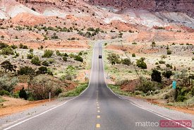 Road leading to Capitol Reef NP, Utah, USA