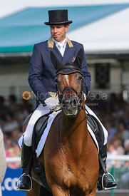 Sam Griffiths and PAULANK BROCKAGH - dressage phase,  Land Rover Burghley Horse Trials, 5th September 2013.