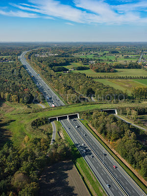 305334 | Ecoduct Mollebos is an ecopasssage or wildlife viaduct over the A12 near Austerlitz.