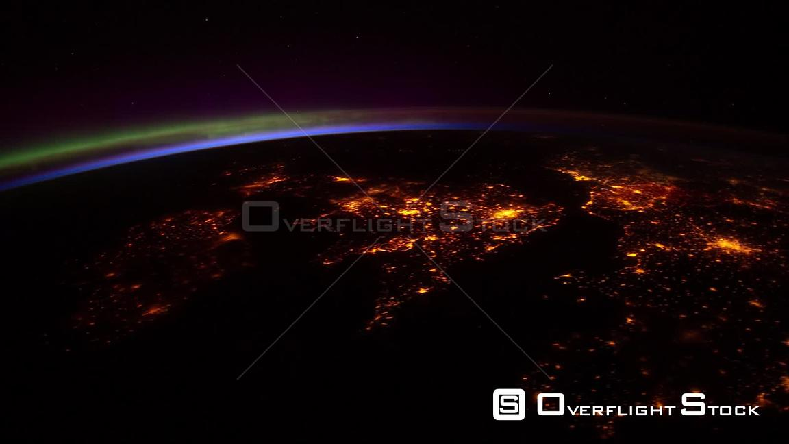 TimeLapse ISS Aurora Borealis Europe Sudan 13 Apr 2012 from Space