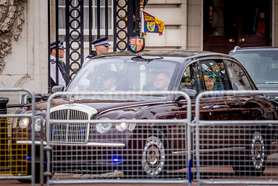 The Queen leaves Buckingham Palace for Westminster Abbey