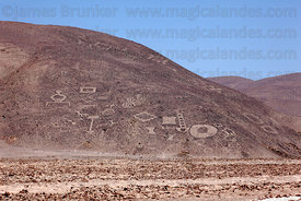 Geoglyphs at Cerro Pintados , Region I , Chile