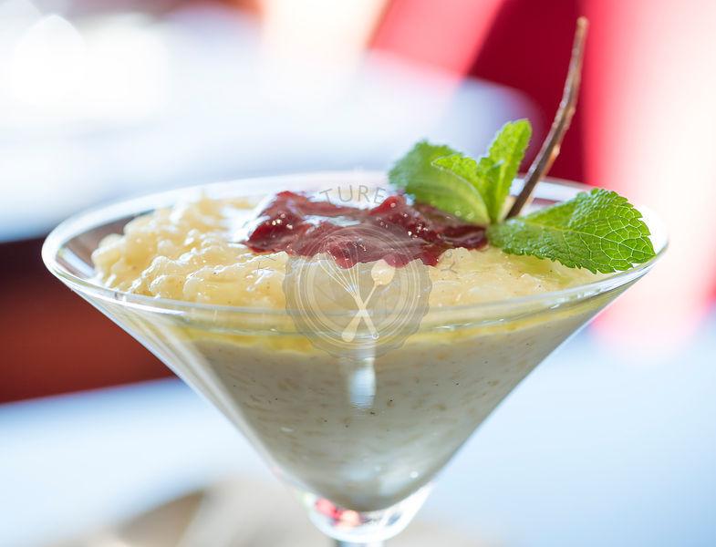 Semolina Dessert from a fine dining restaurant