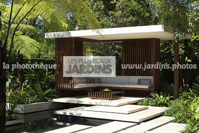 Asiatic garden, Contemporary furniture, Contemporary garden, Exotic garden, Garden construction, Garden furniture, Pavement, Resting area, Terrace, Tropical garden, Contemporary Terrace, Malaysian garden,