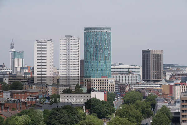 A citysape of Birmingham, looking towards Beetham Tower.