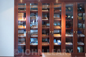 Humidor in the Churchill Cigar Lounge.