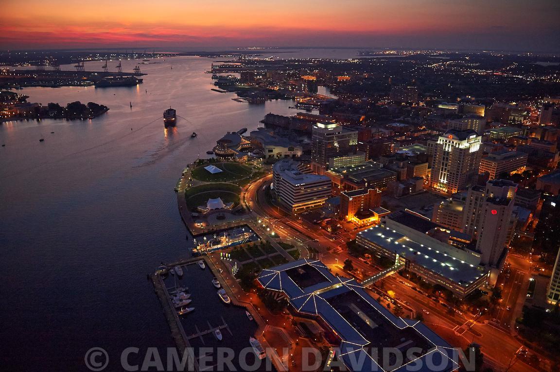 Downtown Norfolk: Downtown Norfolk Virginia At Night