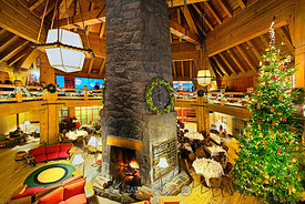 Timberline Lodge on Christmas Day