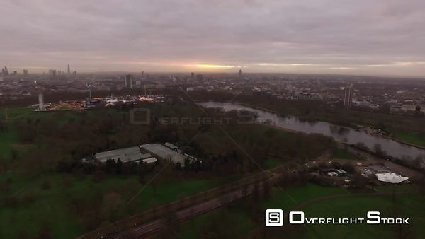 Drone Video The Serpentine Hyde Park London England