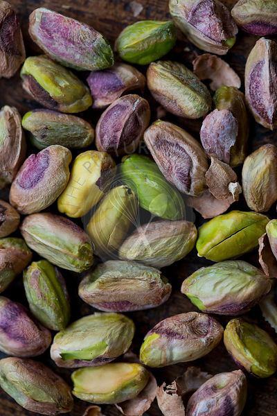 Pistachios Close Up, Shelled Nuts