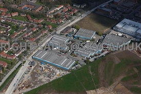 Manchester aerial photograph of Ringway Trading Estate Shadowmoss Road Manchester Airport Wythenshaw