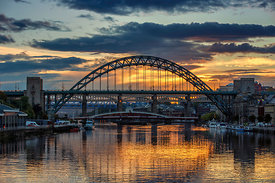 The Tyne at Sunset