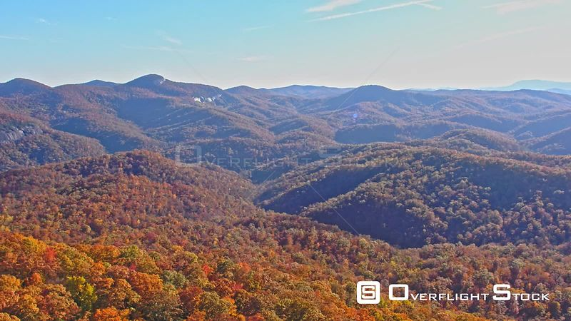 Autumn Trees in Looking Glass Rock North Carolina