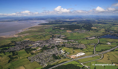 aerial photograph of Carnforth Lancs England UK