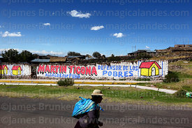 Regional election propaganda on wall, Atuncolla, Puno Region, Peru