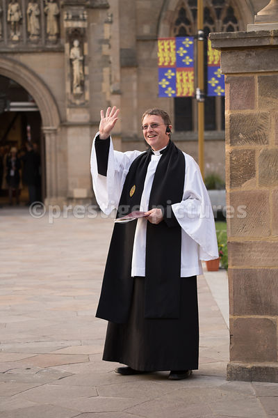 The Revd Pete Hobson Waiting at the Front of the Cathedral for the Arrival of the Cortege