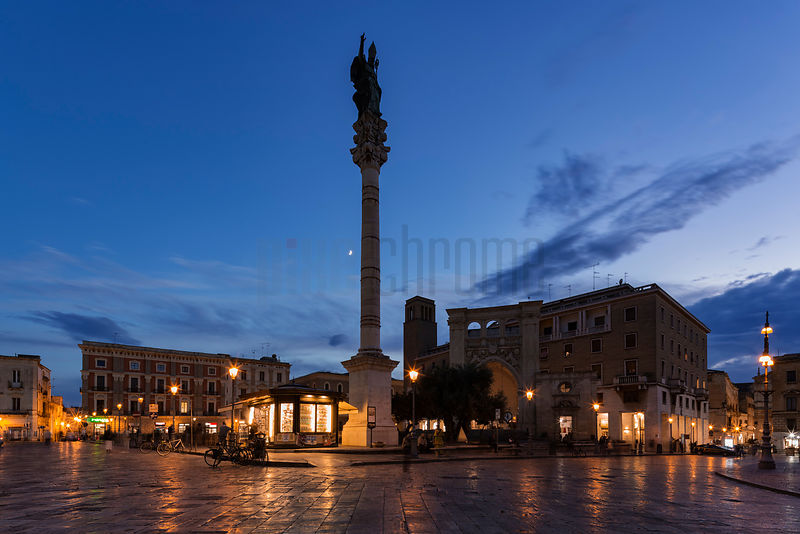 Piazza Sant'Oronzo at Dusk