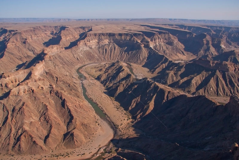 Aerial view of  Fish River Canyon, South Africa, September 2011.