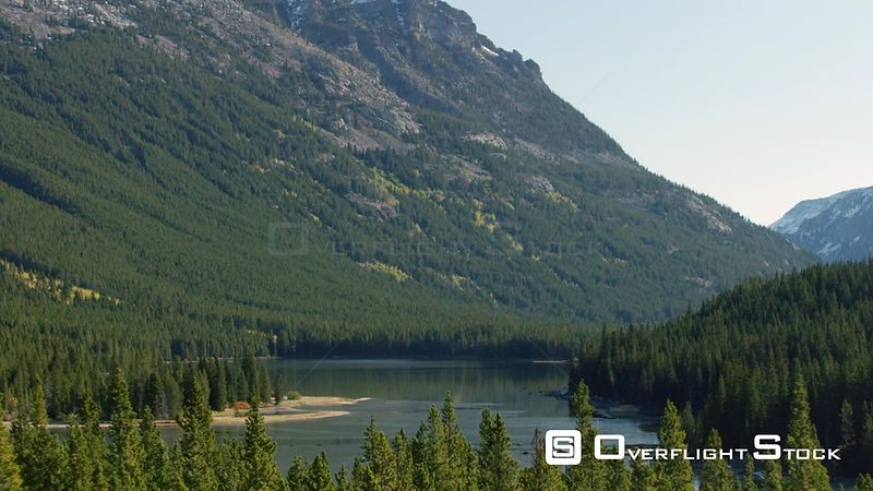 Island Lake sits in a steep valley in the Beartooth mountain Range, in southwestern Montana