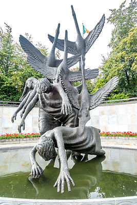 Children of Lir Sculpture, Garden of Remembrance (Vertical 1)- Dublin, Ireland