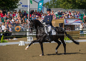 Olympic medallist Carl Hester during his National Championship winning Grand Prix dressage test, 15/9/12