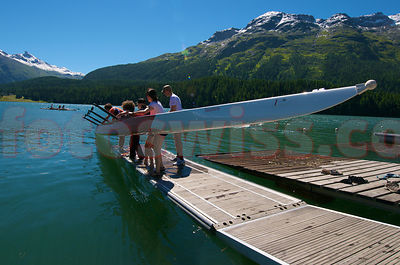 Skiff School on Lake of St.Moritz photos