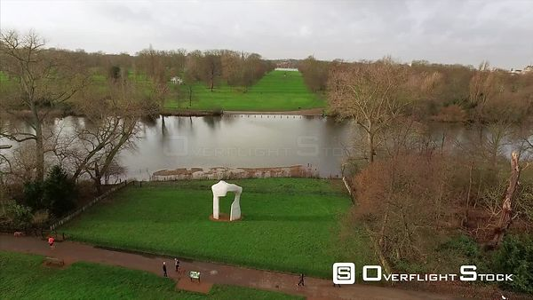 Drone Video The Arch by Henry Moore Hyde Park London England